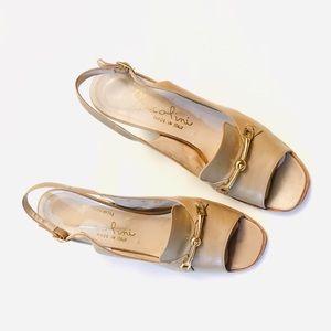 Retro leather horsebit garolini heels - Italy-made
